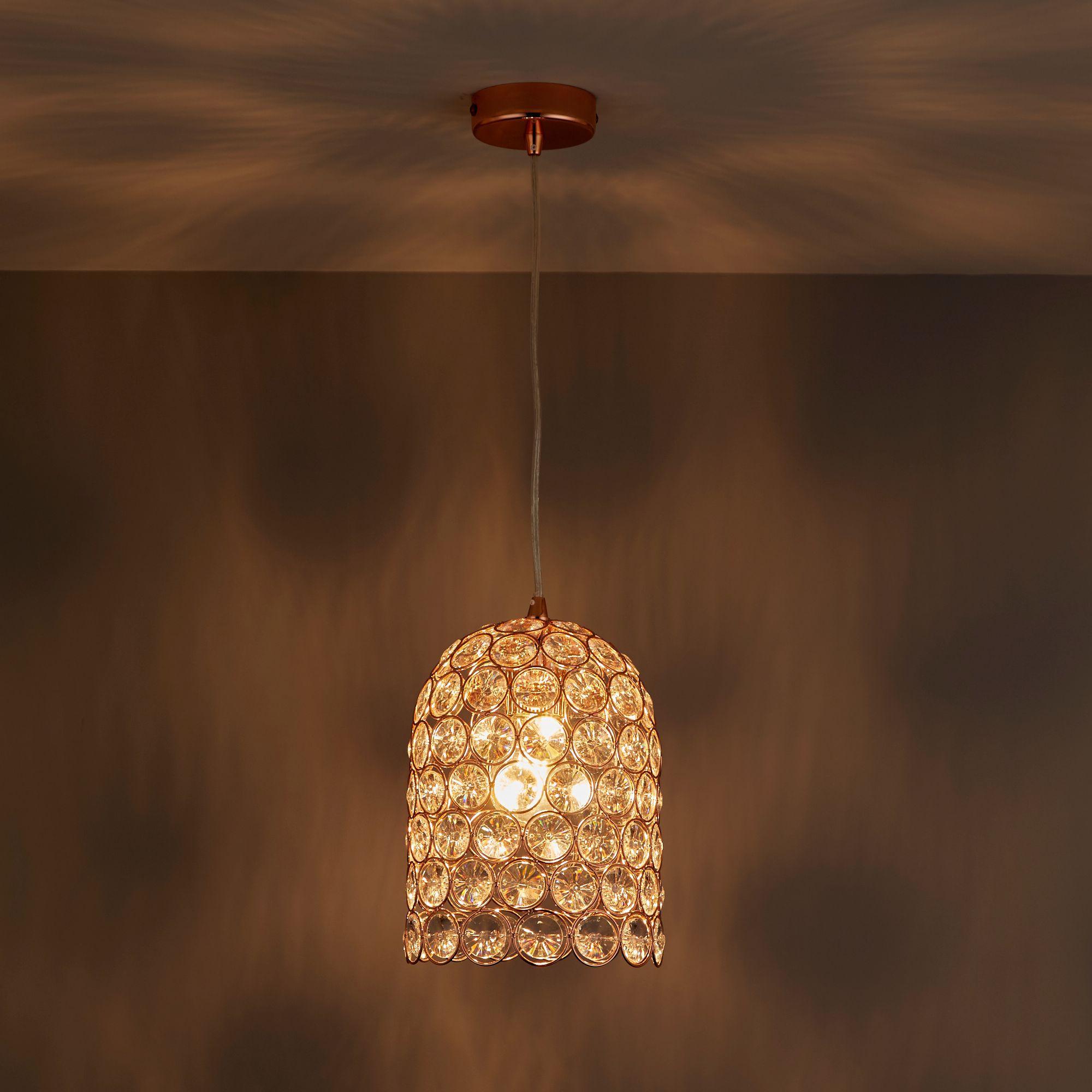 Elize Copper effect Pendant ceiling light