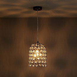 Elize Nickel Effect Pendant Ceiling Light