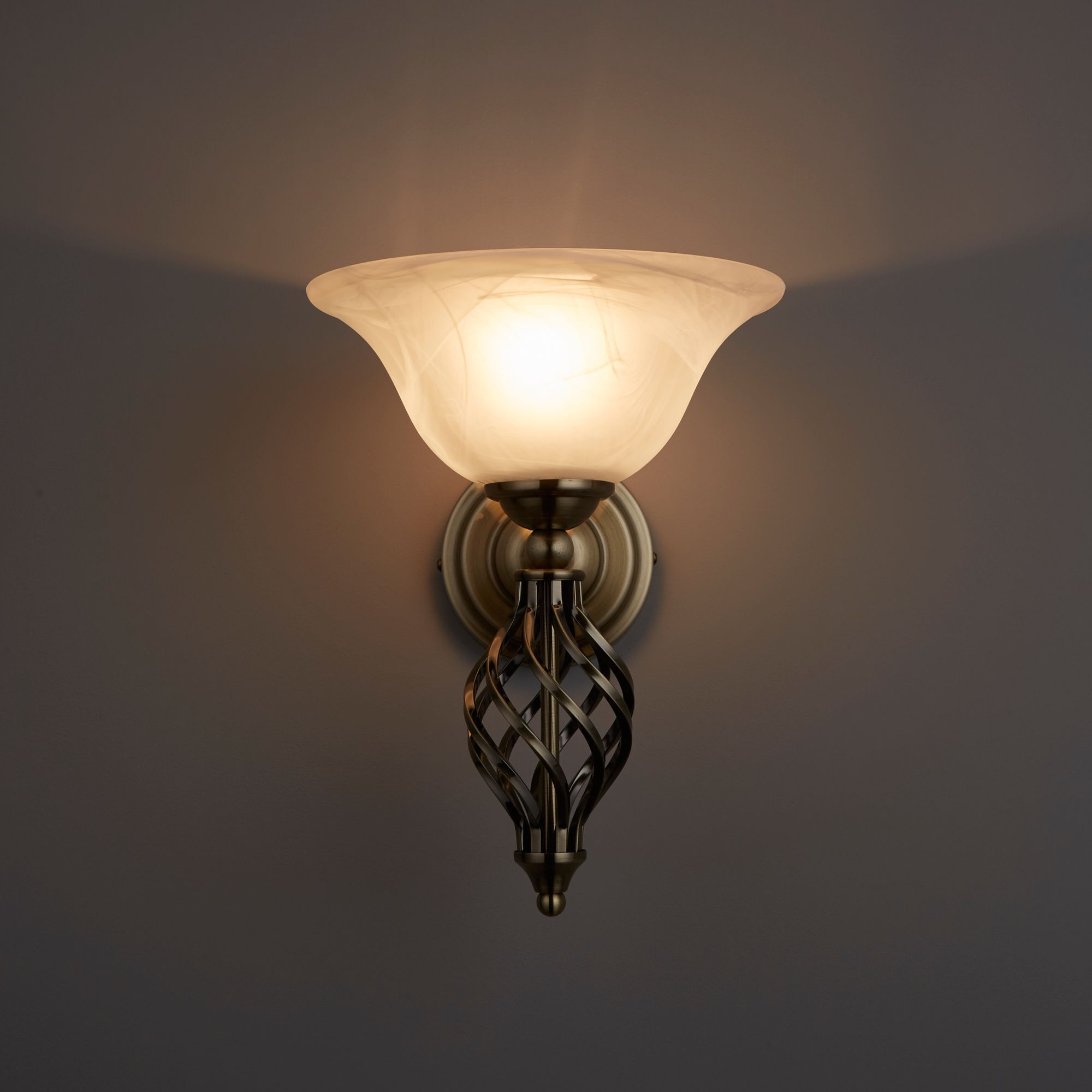 Rolli Antique Brass Effect Wall Light Departments