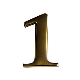 Brass Effect Metal 60mm House Number 1
