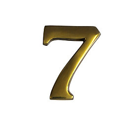 Brass Effect Metal 60mm House Number 7