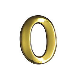 Brass Effect Metal 60mm House Number 0