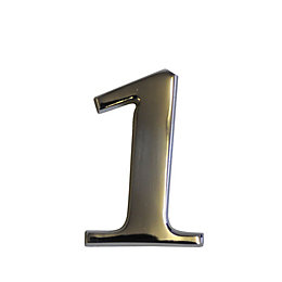 Chrome Effect Metal 60mm House Number 1