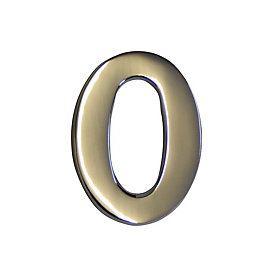 Chrome Effect Metal 60mm House Number 0