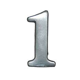 Aluminium 50mm House number 1