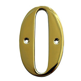 Brass 102mm House Number 0