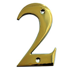 Brass 102mm House Number 2