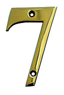Brass 102mm House number 7
