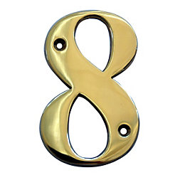Brass 102mm House Number 8