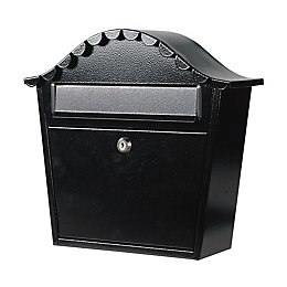 The House Nameplate Company Black Letterbox (H)380mm (W)330mm