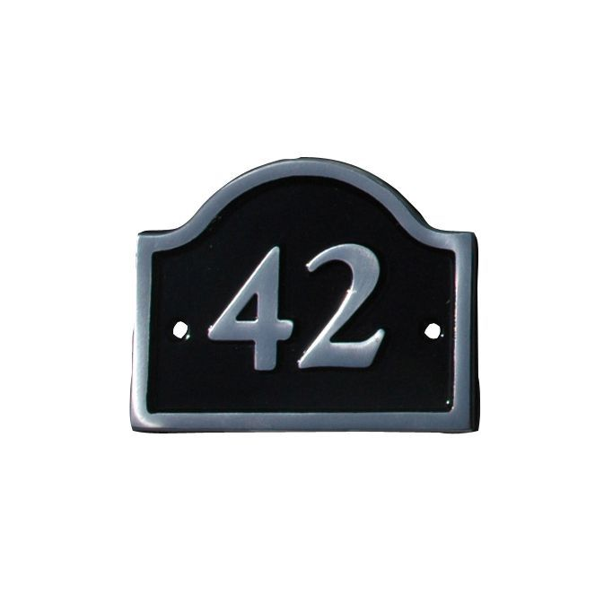 Black Aluminium House Plate Number 42 Departments Diy