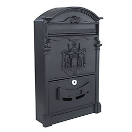 The House Nameplate Company Black Letterbox (H)410mm (W)255mm