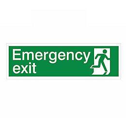 The House Nameplate Company PVC Self Adhesive Emergency