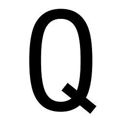 Black PVCu House Letter Q