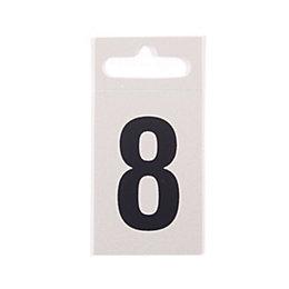 Metal Effect Plastic Door Number 8