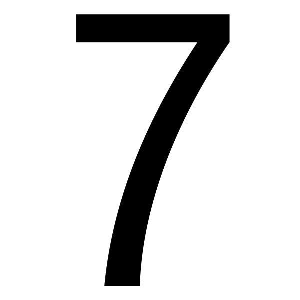 Black Pvcu Die Cut House Number 7 Departments Diy At B Amp Q
