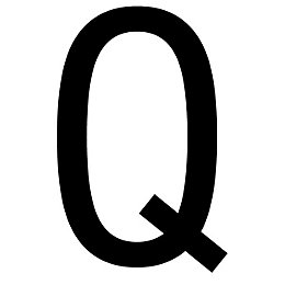 Black PVCu Die Cut House Letter Q
