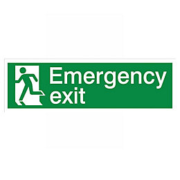 The House Nameplate Company PVC Self Adhesive Emergency