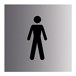 PVC Self adhesive Gentlemen sign (H)100mm (W)100mm