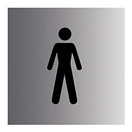 PVC Self adhesive Gentlemen sign (H)100mm (W)100mm