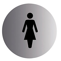 Stainless Steel Self Adhesive Ladies Sign (Dia)115mm