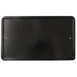 Black Aluminium Door Blank Plate