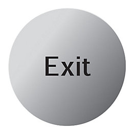 Stainless Steel Self Adhesive Exit Sign (Dia)115mm