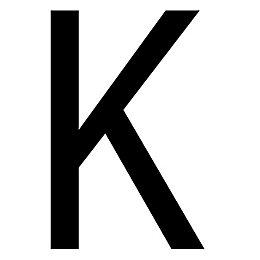 Black PVCu Die Cut House Letter K