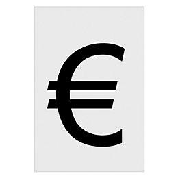 PVCu Self Adhesive Euro Sign (H)60mm (W)40mm