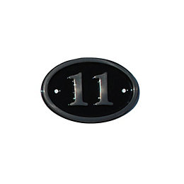 Black Brass House Plate Number 11