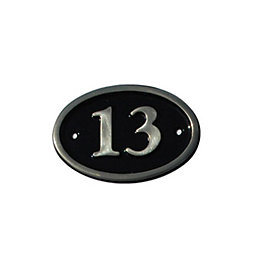 Black Brass House Plate Number 13