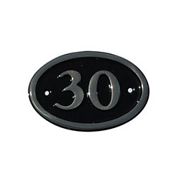 Black Brass House Plate Number 30
