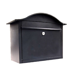 The House Nameplate Company Black Powder Coated Letterbox
