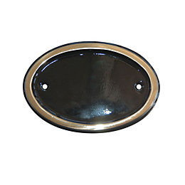 Black Brass Oval House Number