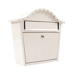 The House Nameplate Company London Cream Letterbox (H)340mm