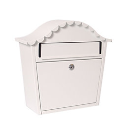 The House Nameplate Company London White Letterbox (H)340mm