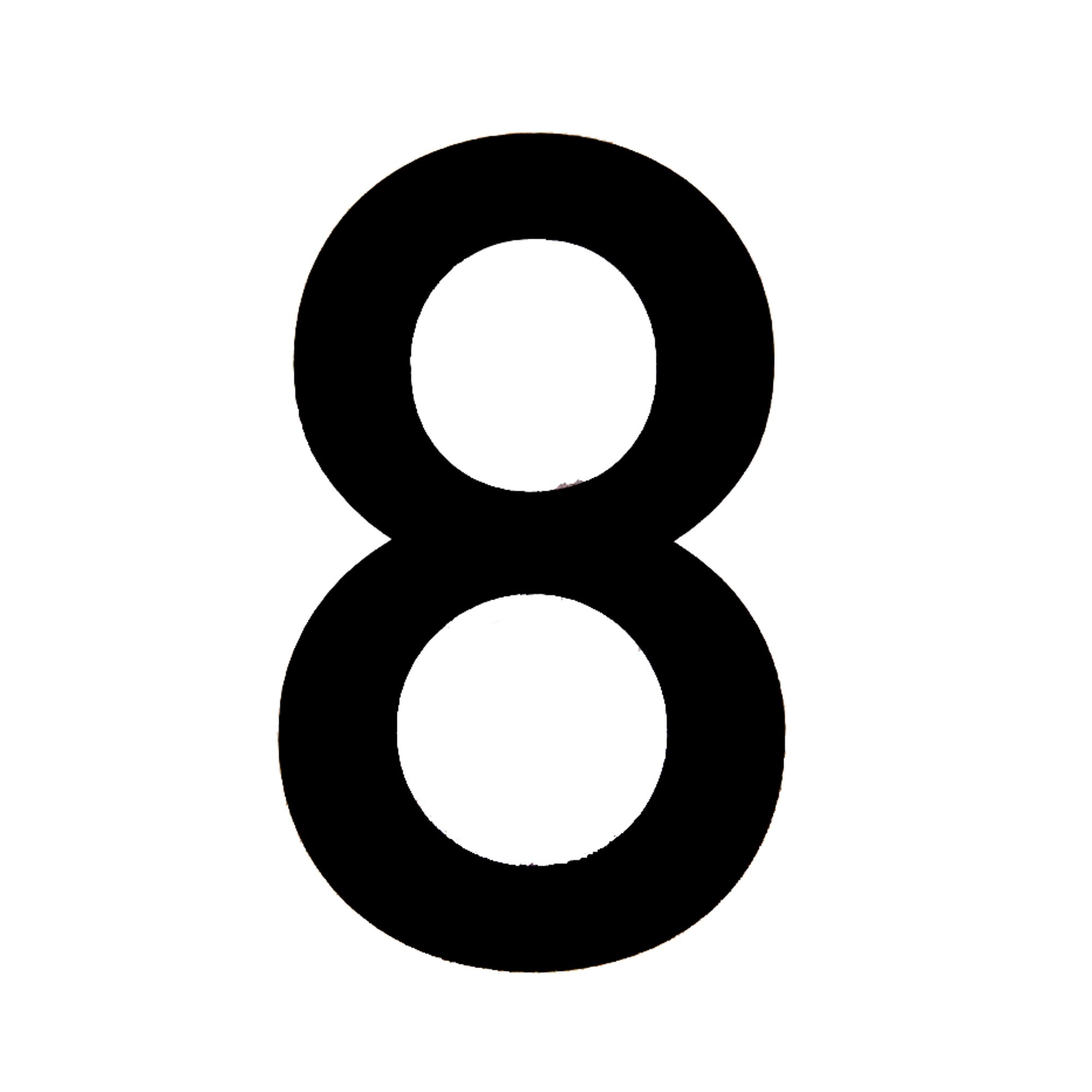 black pvc 250mm house number 8