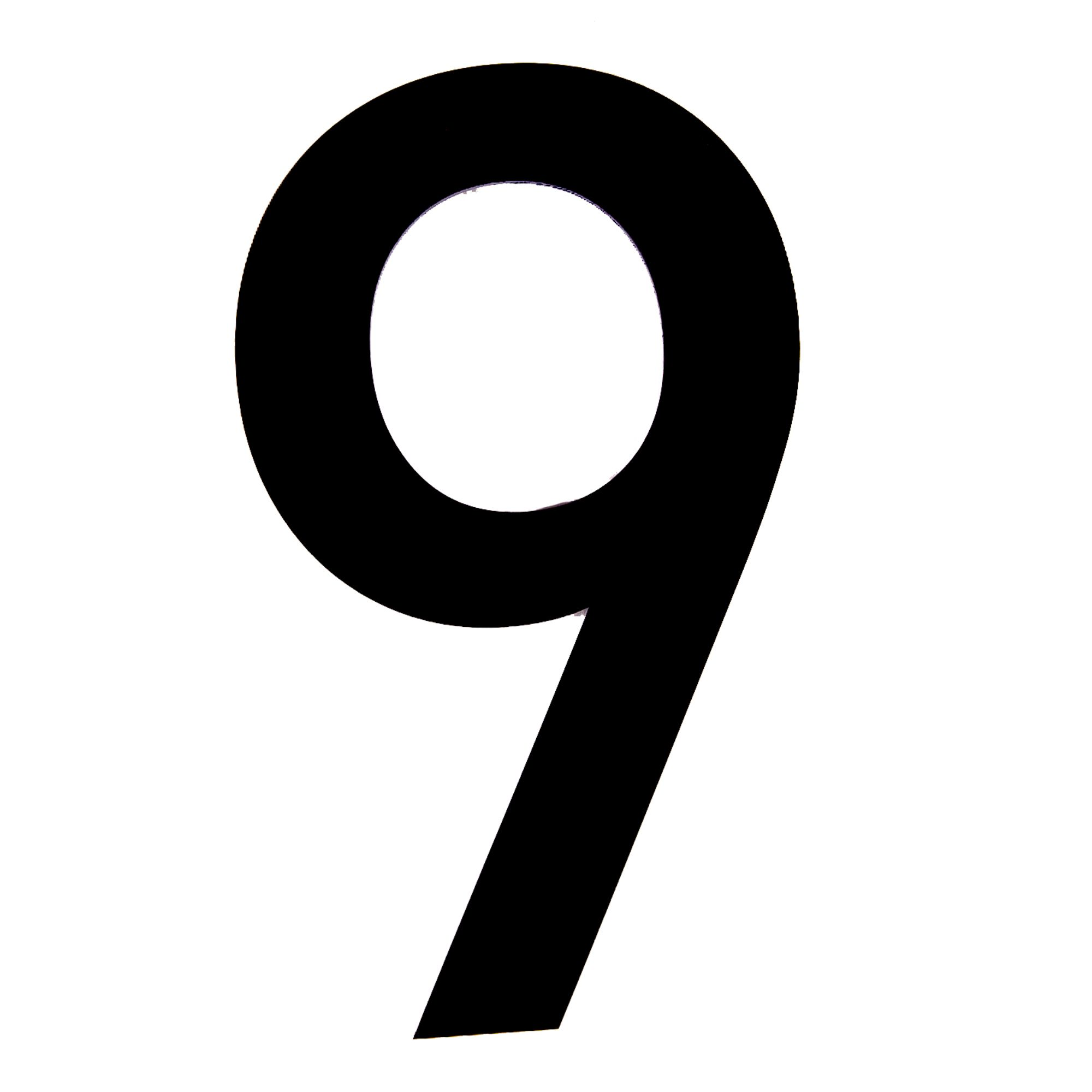 Black Pvc 250mm House Number 9 Departments Tradepoint