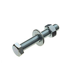 M8 Hex Bolt (L) 50mm (Dia) 8mm, Pack
