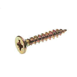 AVF Yellow Zinc-Plated Steel Woodscrew (L)50mm, Pack of