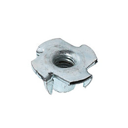 AVF M6 Steel Pronged Tee Nut, Pack of