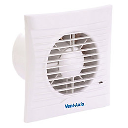 Vent-Axia SIL100T Bathroom Extractor Fan with Timer (D)98mm
