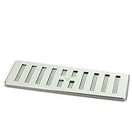 Manrose Silver Adjustable Vent (H)76mm (W)229mm