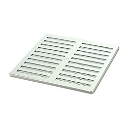 Manrose Silver Adjustable Vent (H)229mm (W)229mm