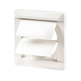 Manrose White External Flap Wall Vent