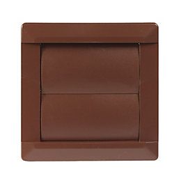 Manrose Brown External Flap Wall Vent (W)110mm