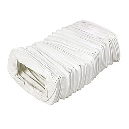 Manrose White Flexible Duct (H)54mm (W)110mm