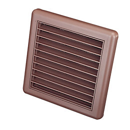 Manrose Brown External Louvered Wall Vent