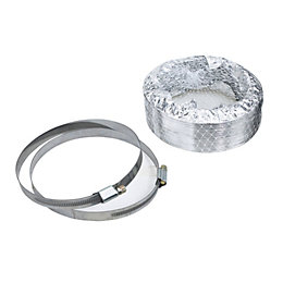 Manrose Silver Circular Flex, Pack of 3