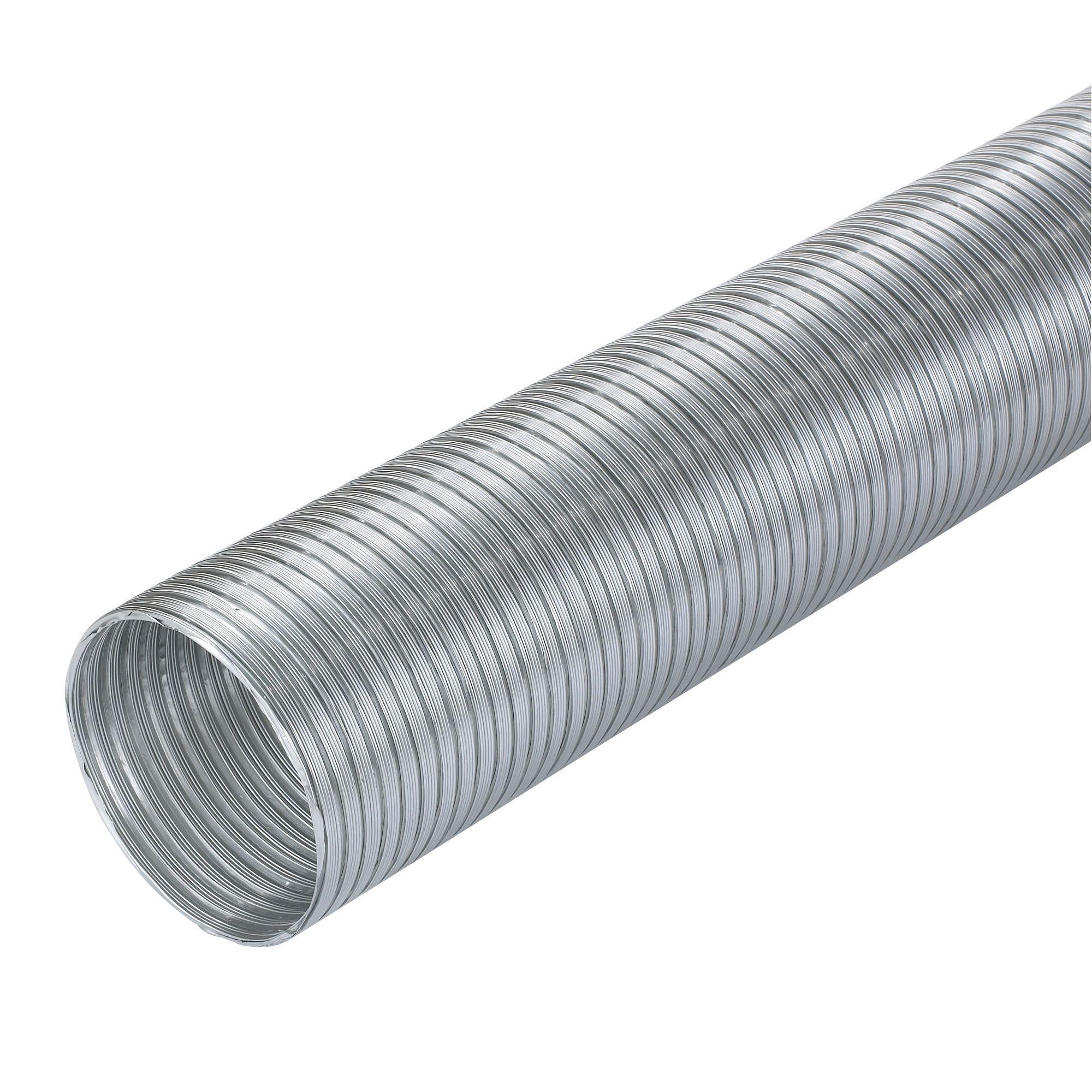 Manrose Silver Semi Rigid Hose (H)140mm, Pack of 1 ...